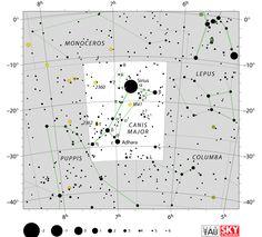 canis major stars,canis major star map,sirius location,star chart