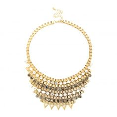Chain Link Bib Necklace  - Gold