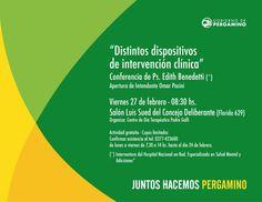 """Este viernes > Conferencia de Edith Benedetti: """"Distintos Dispositivos de intervención clínica"""""""