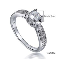 crystal diamond engagement  jewelry rings
