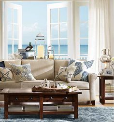 Sofa Shopping Guide Part 3: 5 Things To Think About Before Choosing A Sofa  Fabric. Barn LivingLiving AreaCottage LivingBeach Cottage DecorCoastal ...