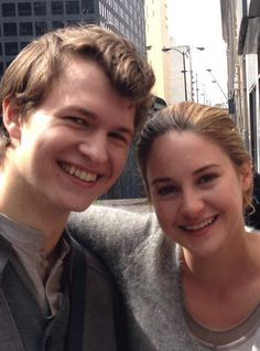 Ansel Elgort (Augustus) and Shailene Woodley (Hazel).....also Ansel is Caleb in Divergent and Shailene is Tris
