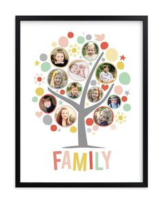 """""""My Funny Family Tree"""" - Custom Photo Art Print by Jessie Steury in beautiful frame options and a variety of sizes."""