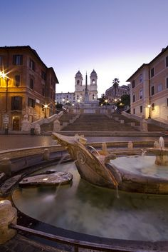 Piazza de Spagna and Spanish Steps at sunrise - 8284. Photos by Enzo D. On Flickr