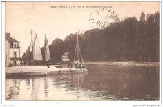 Auray, dundée caboteur faisant sécher ses voiles dans le port de  port de St-Goustan