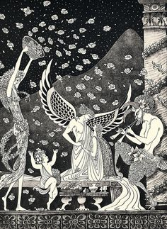 enchantingimagery:  Errol Le Cain - Cupid and Psyche