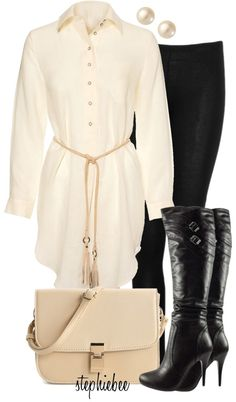 """""""Shirtdress"""" by stephiebees on Polyvore"""