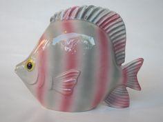 Fitz And Floyd Ceramic Fish Vase 1986 OFF Planter Bathroom Decor