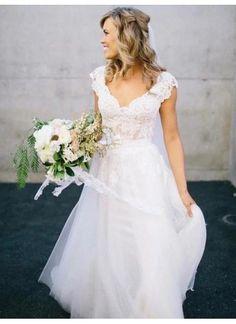 Wonderful Perfect Wedding Dress For The Bride Ideas. Ineffable Perfect Wedding Dress For The Bride Ideas. V Neck Wedding Dress, 2015 Wedding Dresses, Affordable Wedding Dresses, Cheap Wedding Dress, Wedding Attire, Bridal Dresses, Princess Wedding Dresses, Dresses 2016, Prom Dresses