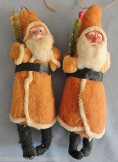 Spun cotton santa claus ornaments
