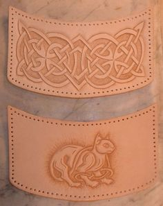 leather+craft+projects | Custom Project: Celtic Cat Knotwork Purse | Leather Skills