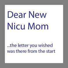 life with jack: Dear New NICU Mom  I wish I had someone to relate when my girls were there.