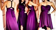 Convertible, Versatile Bridesmaids' Dresses   OneWed