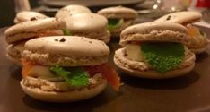 Salty Macaroon with wild salmon,  fresh mint and stacchino cheese #guidilenci