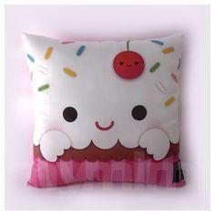 "12 x 12"" Cupcake Pillow, Stuffed Toy, Kids Room Decor, Children's Pillow, Kids Throw Pillow, Food Pillow, Kawaii Pillow by mymimi on Etsy https://www.etsy.com/listing/173609844/12-x-12-cupcake-pillow-stuffed-toy-kids"