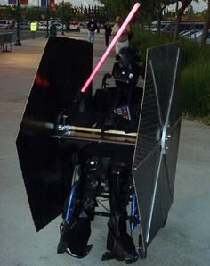 Tie Fighter- Costume for kids in wheelchairs.