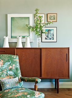 delicious green colors with teak furniture in simple fine style. -- Curated by: OK Estates | 7 - 1960 Springfield rd Kelowna bc v1y 5v7 | 250-868-8108