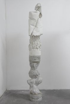 LUCA MONTERASTELLI Calco della specie #1, 2015 Reinforced plaster and concrete 74 × 13 2/5 × 15 7/10 in Contemporary Sculpture, Contemporary Art, Art Totem, T Art, International Artist, Outdoor Art, Installation Art, Three Dimensional, Objects