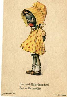 Early Black Americana Postcard / C. Twelvetrees