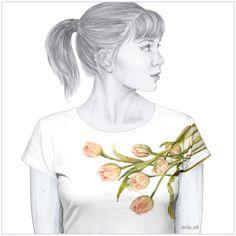 Maľované tričko – Tulipány (lat. Tulipa) – miu.sk Art, Shirts, Art Background, Kunst, Performing Arts, Dress Shirts, Shirt, Art Education Resources, Artworks