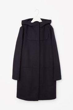 COS image 6 of Wool duffle coat in Navy 190 euro