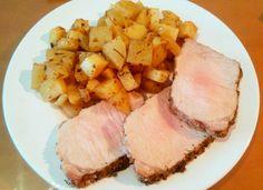 Lomo de Cerdo a la Sal con Guarnición para #Mycook http://www.mycook.es/cocina/receta/lomo-de-cerdo-a-la-sal-con-guarnicion