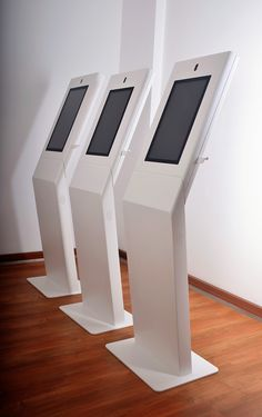moobo | MINIM A freestand multimedia kiosk Digital Kiosk, Digital Signage, Kiosk Design, Signage Design, Interactive Exhibition, Exhibition Display, Point Of Sale, Ipad Floor Stand, Self Service