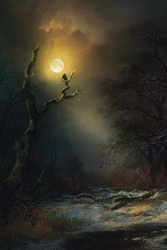De maan, prachtig toch!