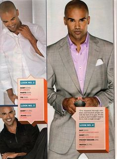 Shemar Moore - Sweet N Sexy in the purple shirt - My favorite shade with gray!