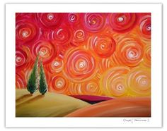 Love the warm colors and the touch of whimsy in this painting from Cindy Thornton