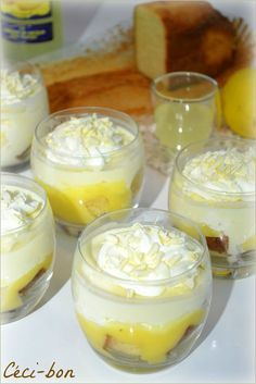 Verrines au limoncello