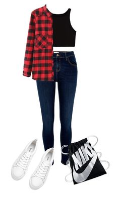 """""""Sans titre #246"""" by fatenicon1989 ❤ liked on Polyvore featuring River Island, WithChic, NIKE and free"""