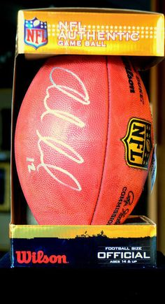 Auction item Autographed Andrew Luck Football from the Colts hosted online at 32auctions.