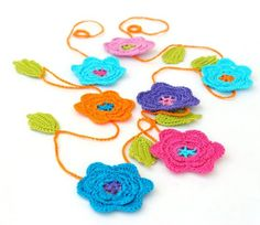 Party Decor Floral Crochet Garland by BobbiLewin on Etsy, $50.00 - so pretty!