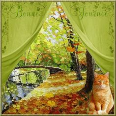 Gifs, Les Deux Sevres, Animation, Gif Animé, Creatures, Kitty, Pictures, Painting, Autumn
