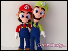 Amigurumi Crochet Pattern : Mario & Luigi  by DilekDesign on Etsy