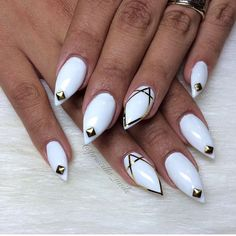 White and strips