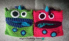 Crochet PJ Monster, Children's Pajama Holder, Children's Sleepover Sack, PJ Eating Monster by AngiesCrocheting on Etsy https://www.etsy.com/listing/519936776/crochet-pj-monster-childrens-pajama