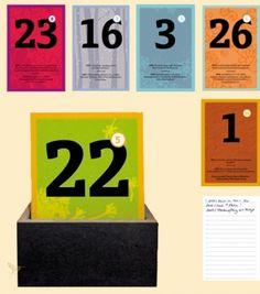 """Eine Chronik schöner  Momente Die Schönetagebox  ist eine Kombination aus Kalender und Tagebuch in Karteikarten-Form. Nimmt man die aktuelle Tageskarte aus der Box, entdeckt man eine  (schöne) Begebenheit, die sich in der Vergangenheit an diesem Tag  ereignet hat oder wird an den Geburtstag einer bekannten Persönlichkeit  erinnert. Auf der Rückseite hat man nun selbst die Möglichkeit, einen  schönen Moment des Tages zu notieren. Benutzt man die """"schönetagebox"""" so  über einen langen…"""
