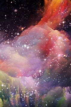 Space Rainbow Colorful Star Art Illustration iPhone 4s wallpaper