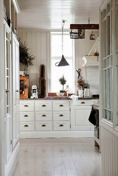 A Swedish country-style kitchen