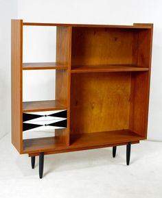 Tekowy regał, design lata 60-te, vintage (5832172189) - Allegro.pl - Więcej niż aukcje.