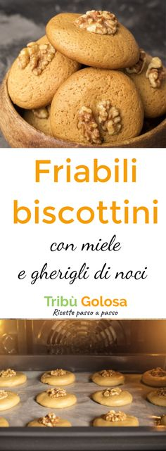 Avete sempre sognato di preparare dei #biscottini friabili, dolci al punto giusto, con un alto croccante? Allora questi #biscotti tondi al #miele e #gheriglidinoci non vi deluderanno! Sono belli da vedere, deliziosi, ottimi con un buon tè verde o un chai speziato.. #tribugolosa #gourmettribe #golosiditalia #cucina #cucinaitaliana #cucinare #italianrecipes #food #italianfood #foodstyling #yummy #foodlover #ricette #recipe #homemade #delicious #ricettefacili #noci #biscotti Biscotti Cookies, Italian Cookies, Biscuit Recipe, Sweet Cakes, Cookies Et Biscuits, Christmas Cookies, Cake Recipes, Food And Drink, Sweets