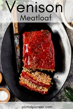 This ground venison meatloaf recipe is juicy and full of flavor. It's an easy ground venison recipe that's also an easy comfort food recipe for the cold weather months. Venison Meatloaf Recipe, Venison Sausage Recipes, Ground Venison Recipes, Meatloaf Recipes, Deer Meat Recipes Ground, Canned Venison, Cooking Venison, Venison Chili, Venison Burgers