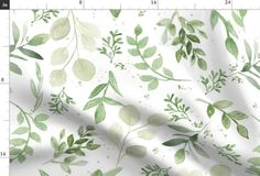 Warmer Tones Watercolor Larger Leaves - Spoonflower Magnolia Leaves, Watercolor Leaves, Watercolor Pattern, Watercolour, Round Tablecloth, Green Cotton, Organic Cotton, Spoonflower Fabric, Of Wallpaper