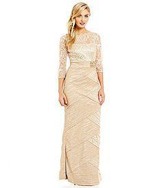 75f135140db Emma Street Embroidered Mock 2-Piece Taffeta Gown
