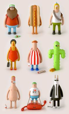 Super Punch: Heroes and Villains figurines