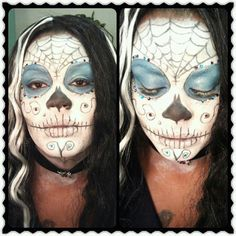 """""""Day of the dead"""" face paint by brandy page"""