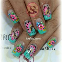 New Fails Design Cute Long Ideas Wow Nails, Cute Nails, Pretty Nails, Nail Polish Art, Toe Nail Art, Fabulous Nails, Gorgeous Nails, Fingernail Designs, Nail Art Designs