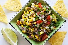 Charred Corn and Lentil Salsa